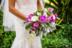 exotic orchid bridal bouquet for wedding