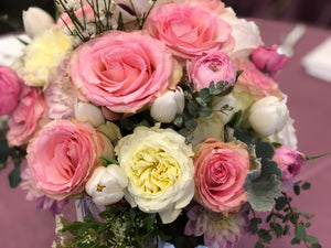 beautiful pink roses flower arrangement san diego best bouquet