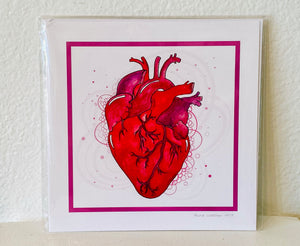 "Auralee Walmer's designs are bold and breathtaking. This piece is in an 8"" by 8"" square format of a heart."
