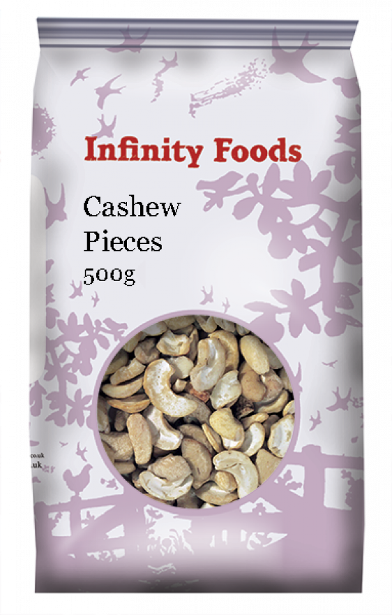 Organic Cashews Large Pieces (500g)