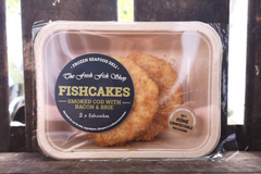 SMOKED COD BACON BRIE FISHCAKES (FROZEN)