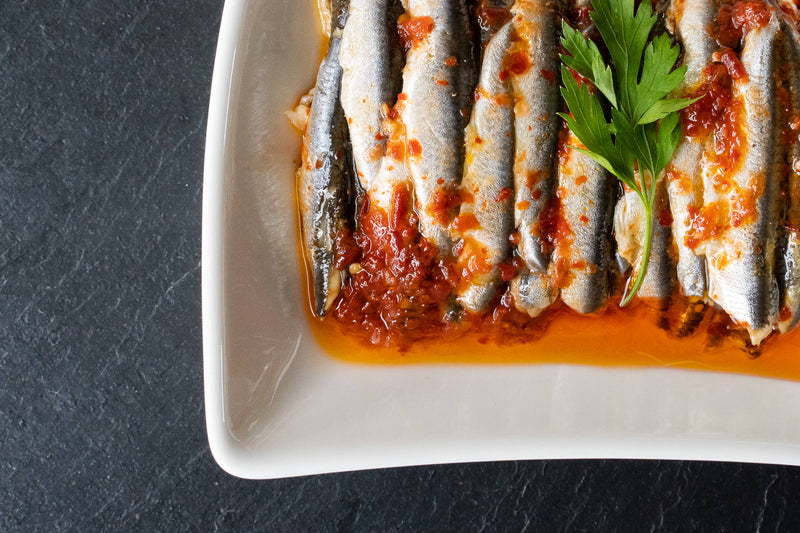 ORIENTAL SPICED ANCHOVIES