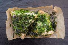 HERB CRUMBED COLEY MARINATED IN PARSLEY & DILL
