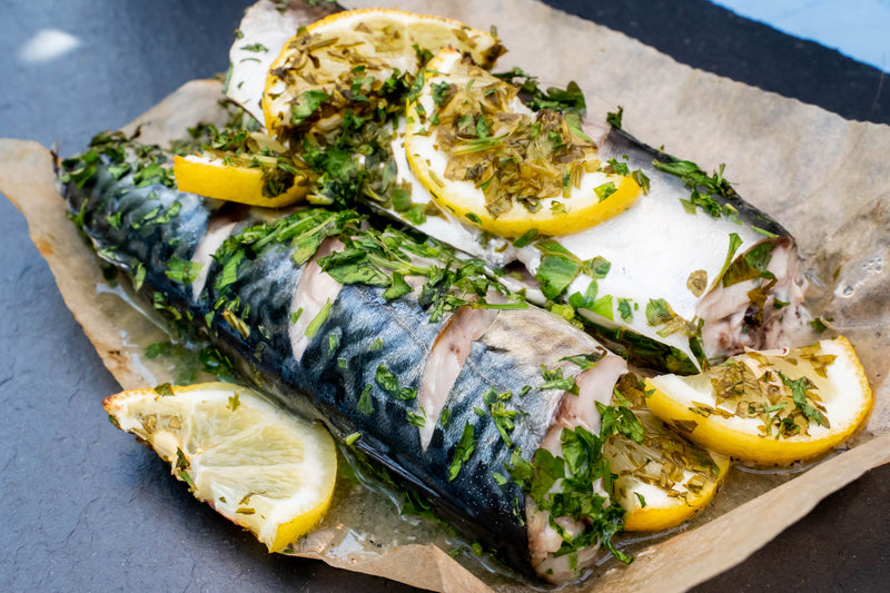 OVEN READY MACKEREL WITH LEMON & PARSLEY