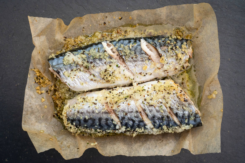 Oven-Ready Mackerel with Lemon & Cracked Black Pepper