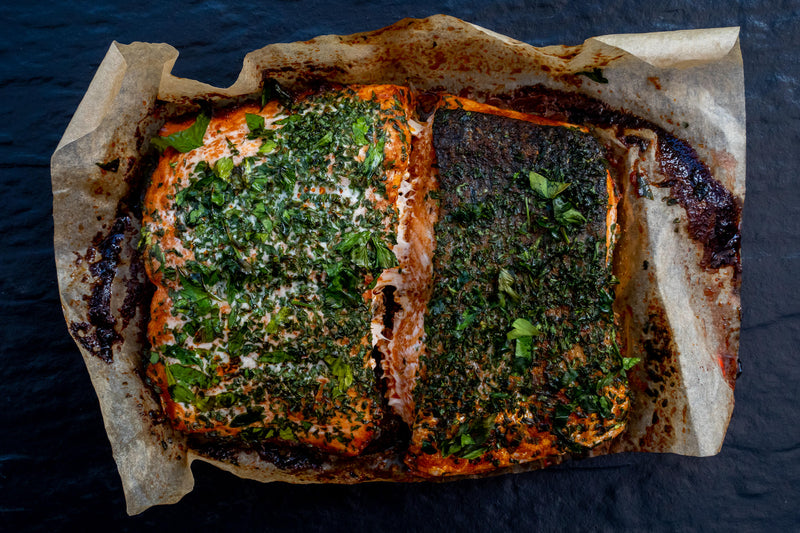 OVEN READY SALMON IN PAPRIKA & HERB CRUST
