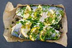 OVEN READY SEABASS WITH LEMON & PARSLEY