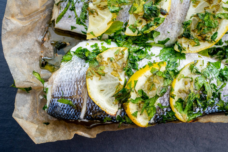 Oven-Ready Whole Seabass with Lemon & Parsley