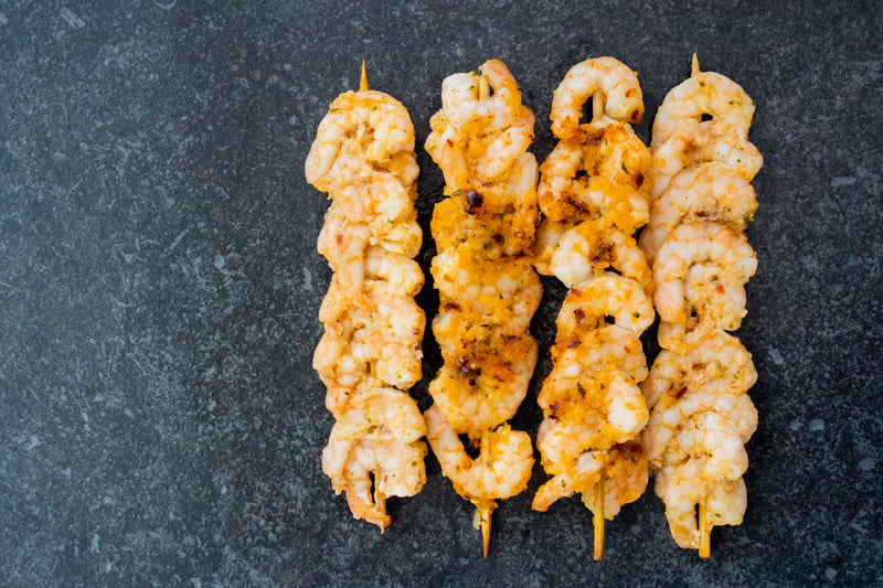 SWEET CHILL LIME PRAWN KEBABS