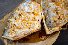 OVEN READY SEABREAM WITH SWEET CHILLI & LIME