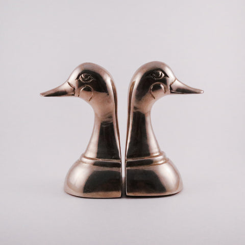 Brass Duck Bookends (pair)