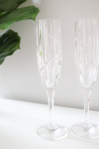 Crystal Champagne Flutes (2)