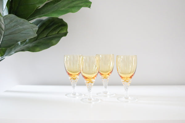 Coloured Cocktail Cordial Glasses