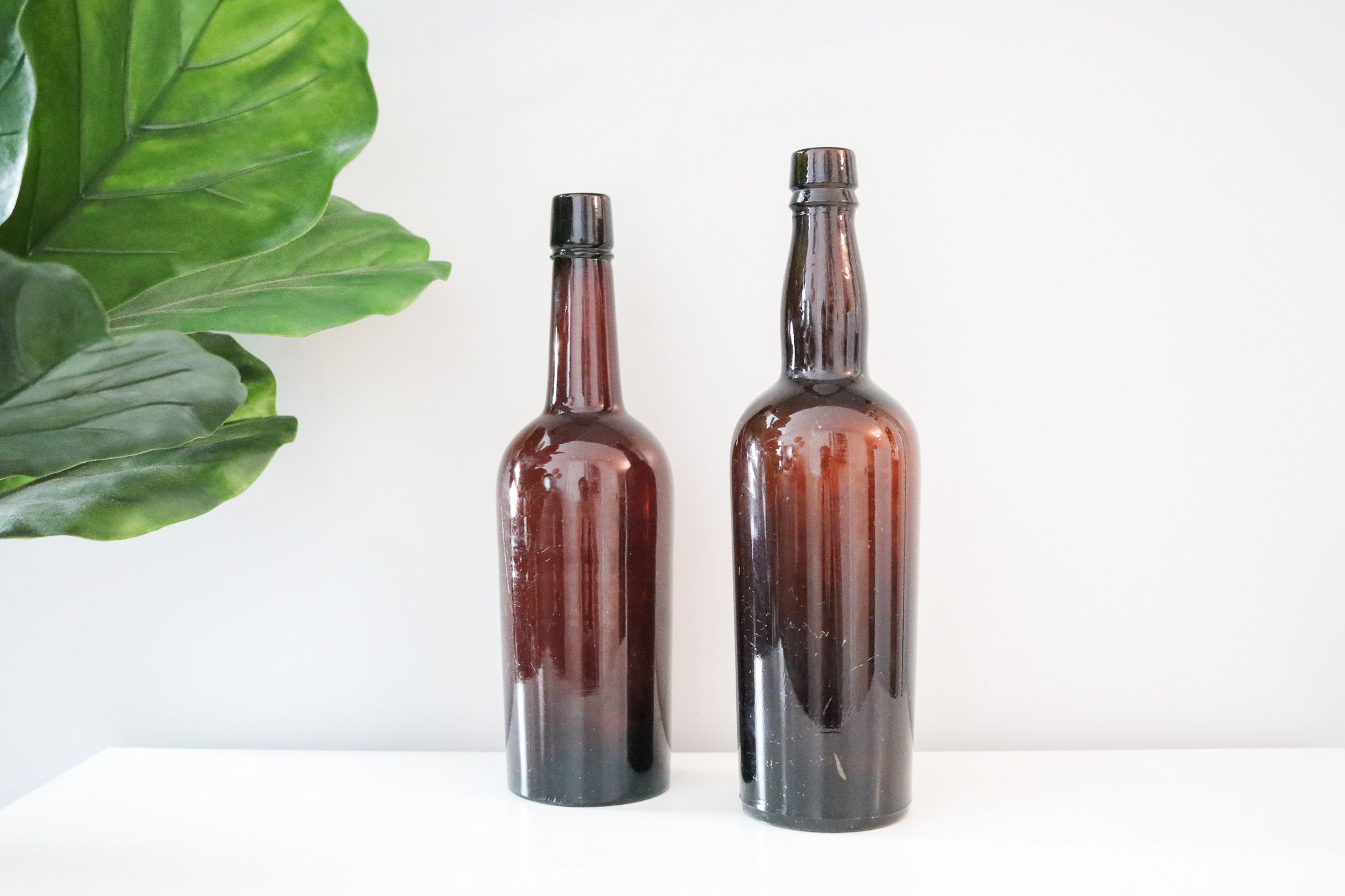 Amber Bottle Set (2)