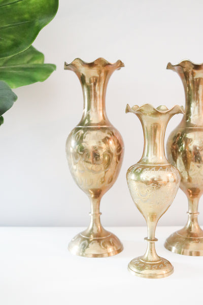 Brass Vase Set (3)