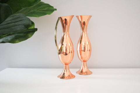 Copper Vase Set (2)