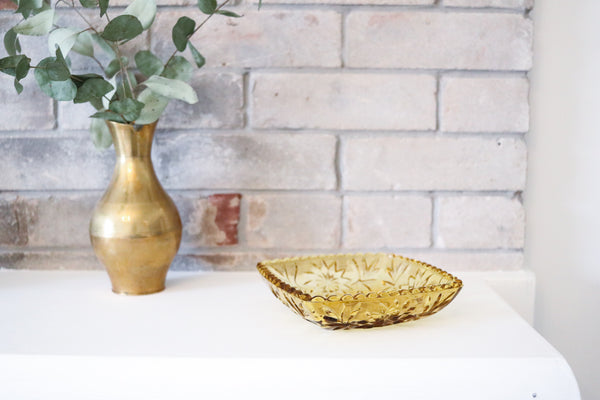 Yellow Amber Catch-All Bowl