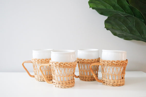 Wicker Coffee Cups