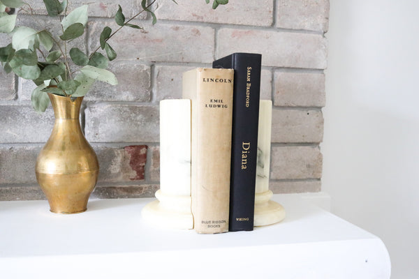 Marble Pillar Bookends
