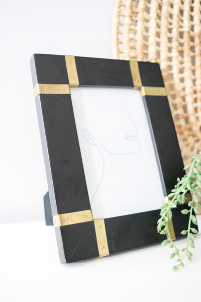 Black + Brass Picture Frame