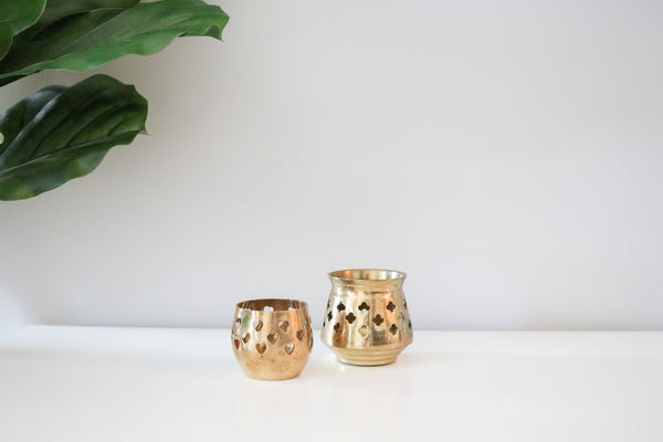 Brass Tealight Set