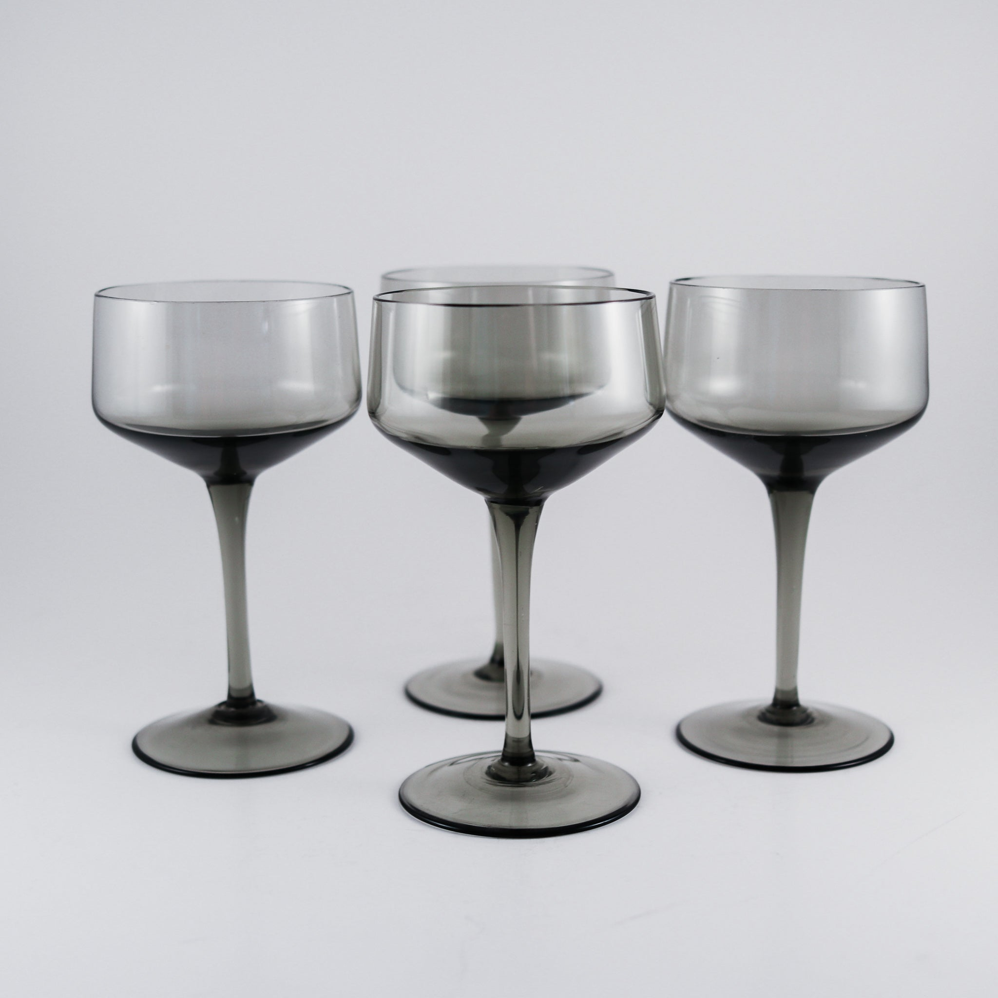 Smoked Black Crystal Cocktail Coupes