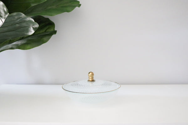 Crystal Jewelry Dish + Lid