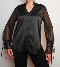 Load image into Gallery viewer, The Bianca Blouse in Black