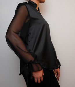 The Bianca Blouse in Black