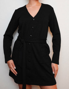 The Irene Cardigan Dress in Black