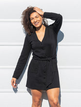 Load image into Gallery viewer, The Irene Cardigan Dress in Black