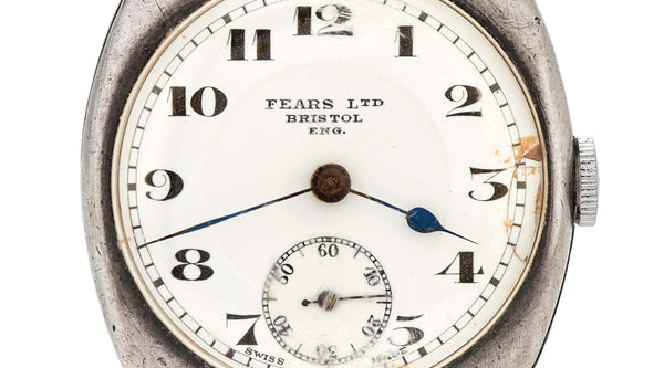 Fears Archive - 1924 gent's cushion case watch