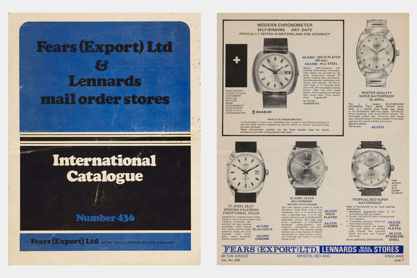 Fears Watches - British Watches - Final issue of the 'International Catalogue', circa 1975