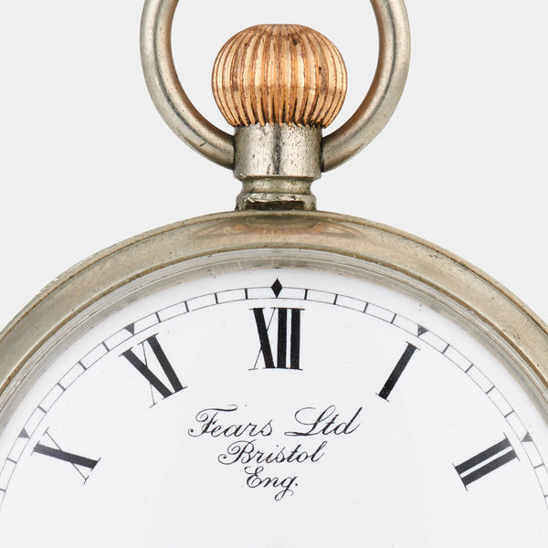 Fears Watches - British Watches - New Fears Limited logo displayed on a pocket watch dial, circa 1920