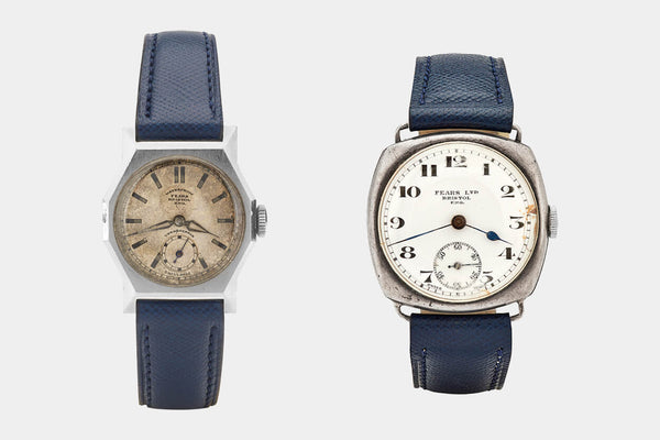 Fears Watches - British Watches - Examples of non-round Fears wrist watches from the 1920s