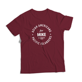 AAPI for Mike Tee  (Unisex Burgundy)