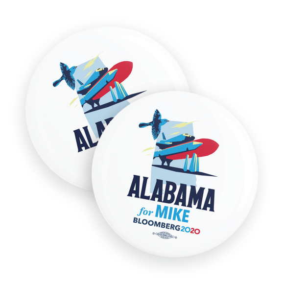 Alabama For Mike Buttons (Pack Of Two!)