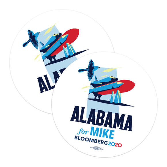 Alabama For Mike Stickers (Pack of Two!)