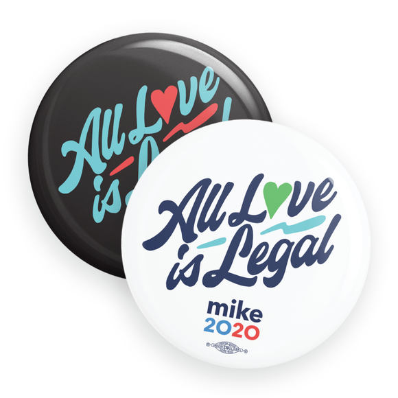 All Love Is Legal Buttons (Pack Of Two!)