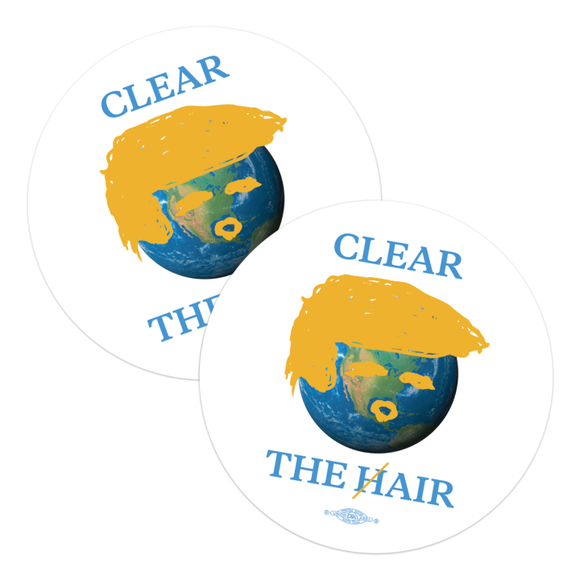 Clear The Hair Stickers (Pack of Two!)