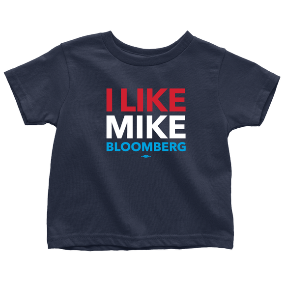 I Like Mike Bloomberg (Navy Toddler Tee)