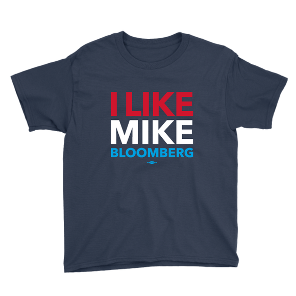 I Like Mike Bloomberg (Navy Youth Tee)
