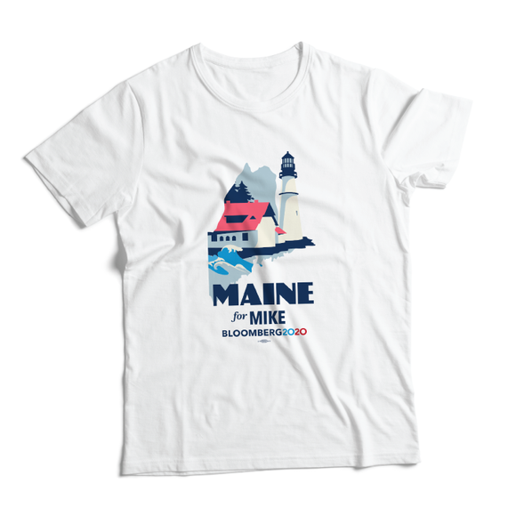 Maine For Mike Tee (Unisex White)
