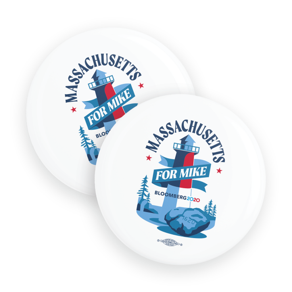 Massachusetts For Mike Buttons (Pack Of Two!)