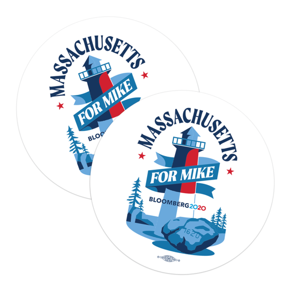 Massachusetts For Mike Stickers (Pack of Two!)