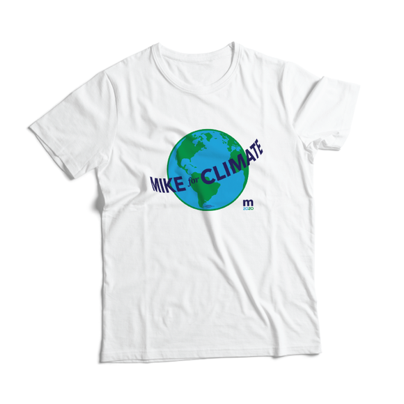 Mike For Climate Recycled Tee (Unisex White )