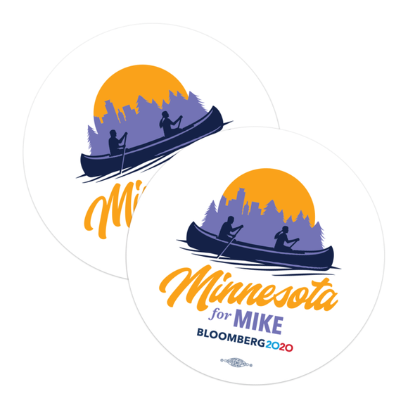 Minnesota For Mike Stickers (Pack of Two!)