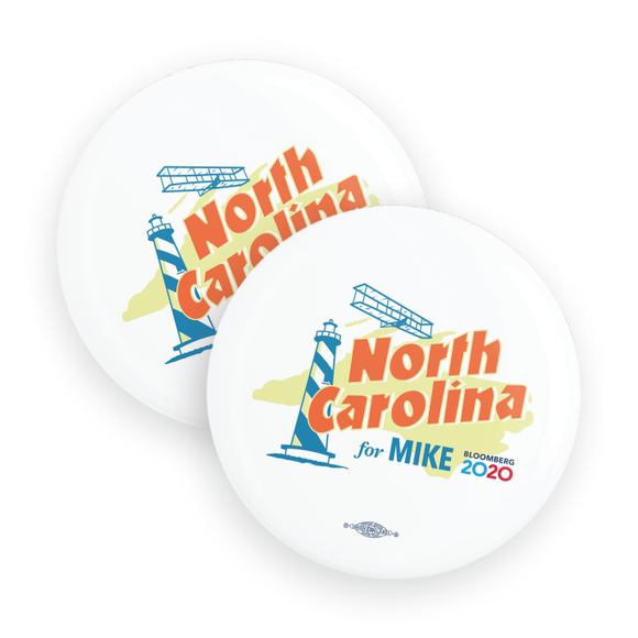 North Carolina For Mike Buttons (Pack Of Two!)