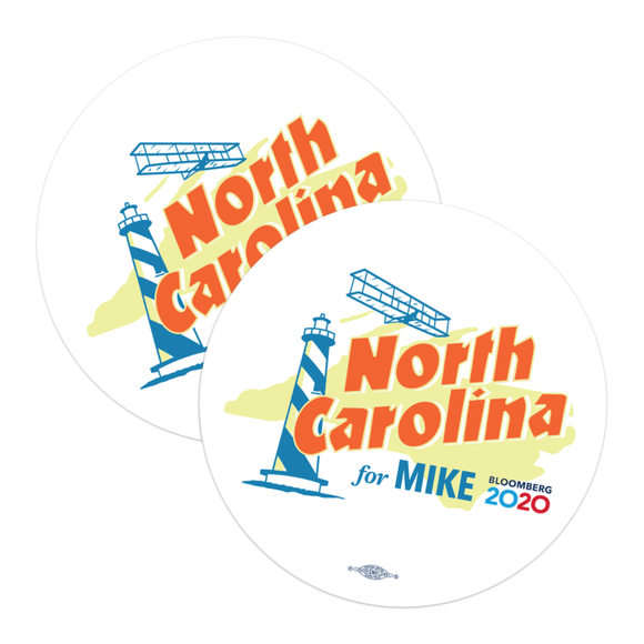 North Carolina For Mike Stickers (Pack of Two!)