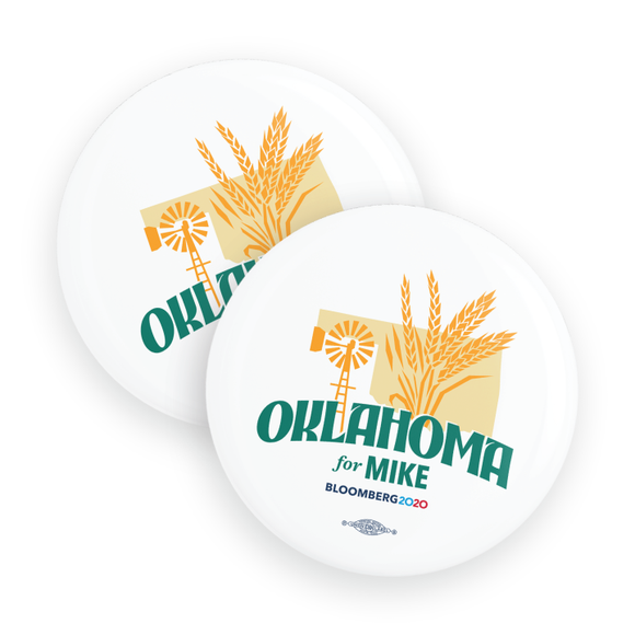 Oklahoma For Mike Buttons (Pack Of Two!)